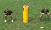 2-man lifting practice with pad
